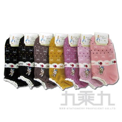 7832 比得兔織花船形襪22-24cm