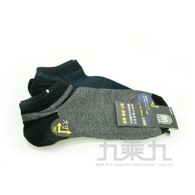 加大條紋直角船型襪 2289