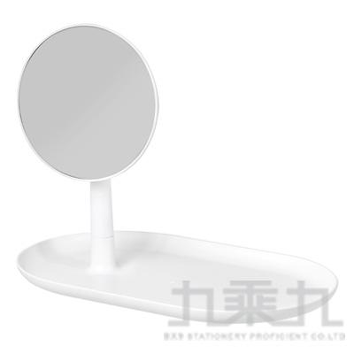 立鏡置物托盤-白色 271212