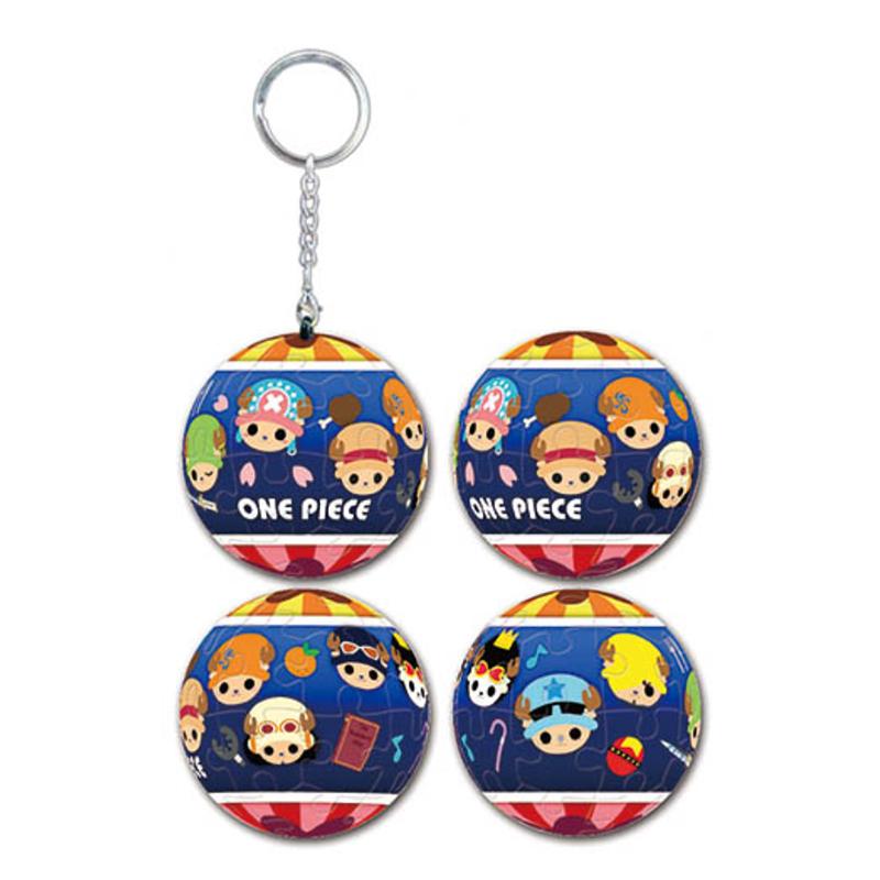 海賊王變裝喬巴立體球型拼圖鑰匙圈24片