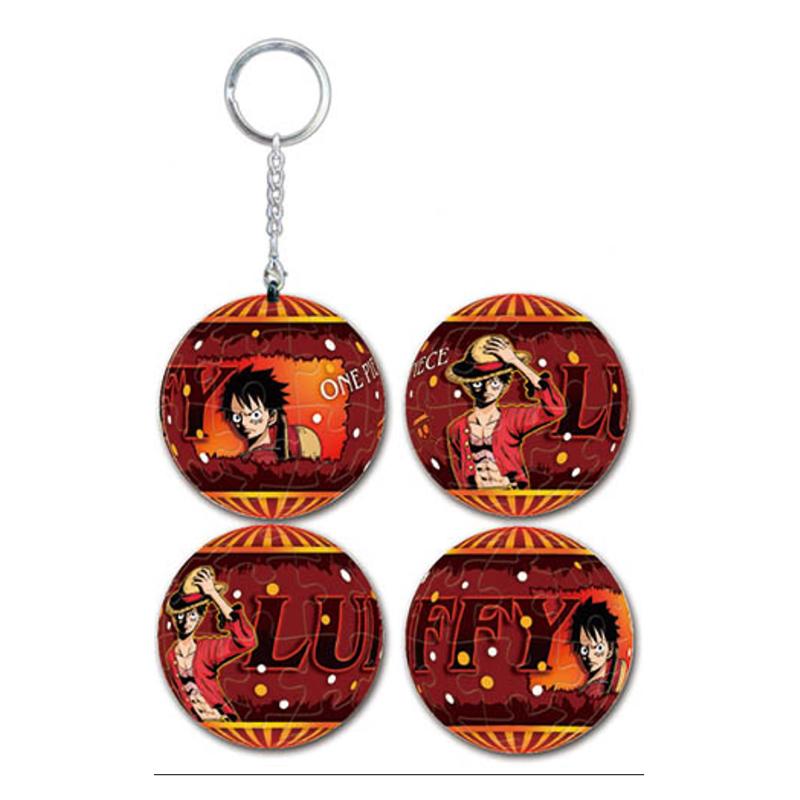 海賊王霸氣魯夫立體球型拼圖鑰匙圈24片