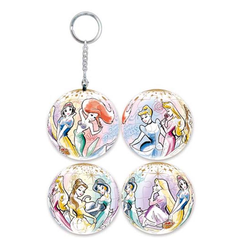 Disney Princess公主(3)立體球型拼圖鑰匙圈24片