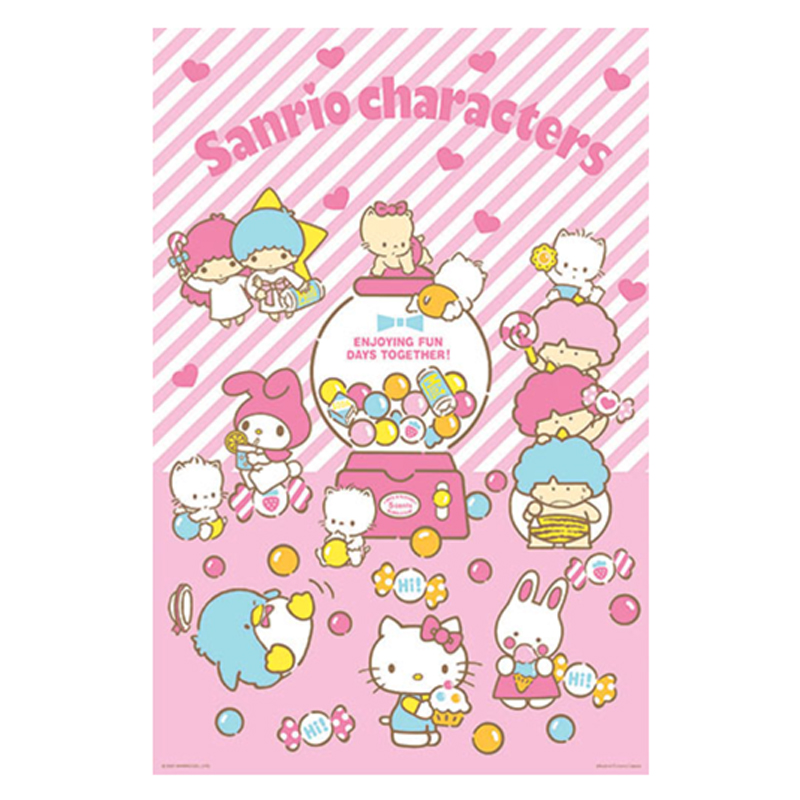 Sanrio characters歡樂扭蛋機拼圖1000片