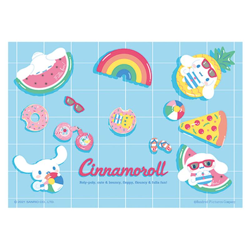 Cinnamoroll 仲夏泳池心形拼圖200片