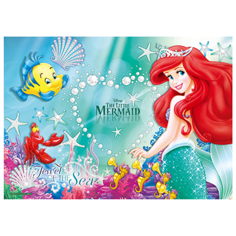 Disney Princess小美人魚(3)心形拼圖200片