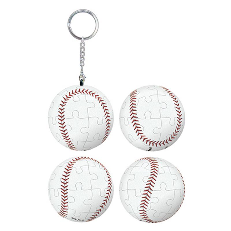 棒球立體球型拼圖鑰匙圈24片