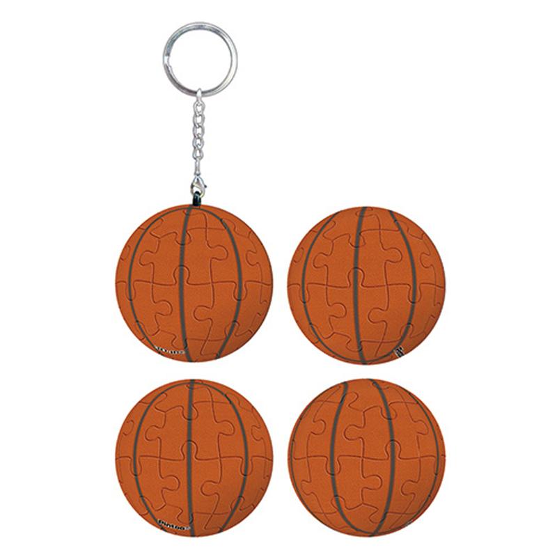 籃球立體球型拼圖鑰匙圈24片