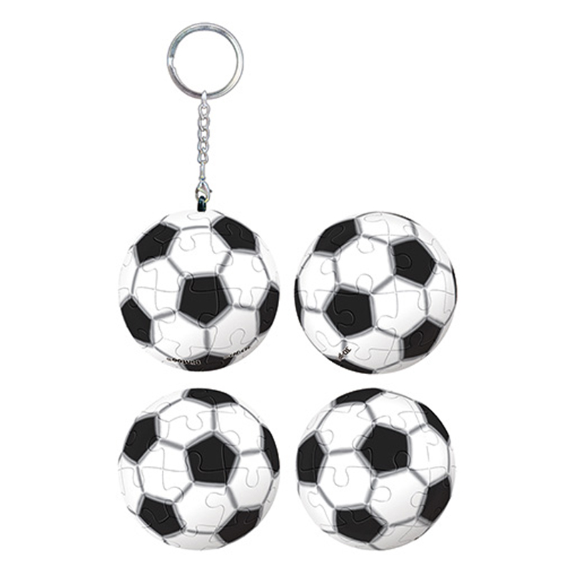 足球立體球型拼圖鑰匙圈24片