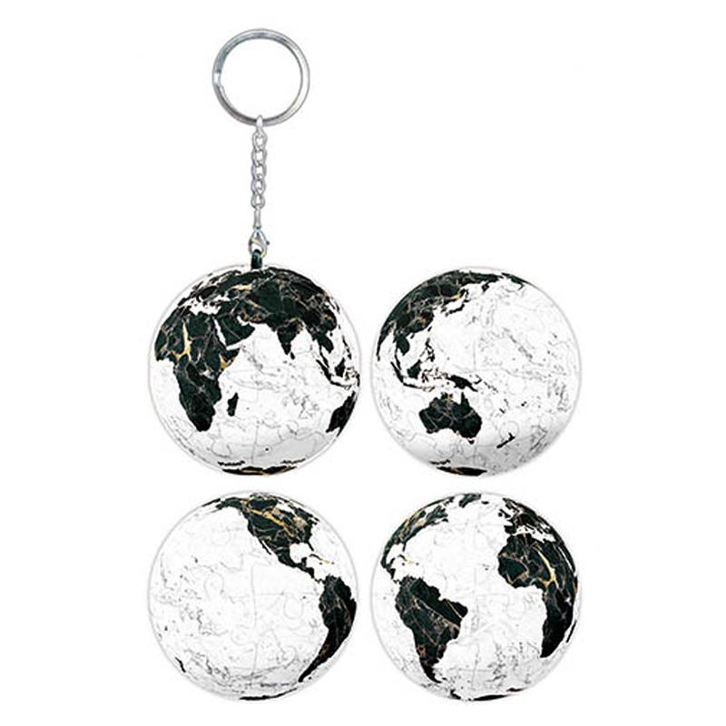 岩礦之星(地球)立體球型拼圖鑰匙圈24片