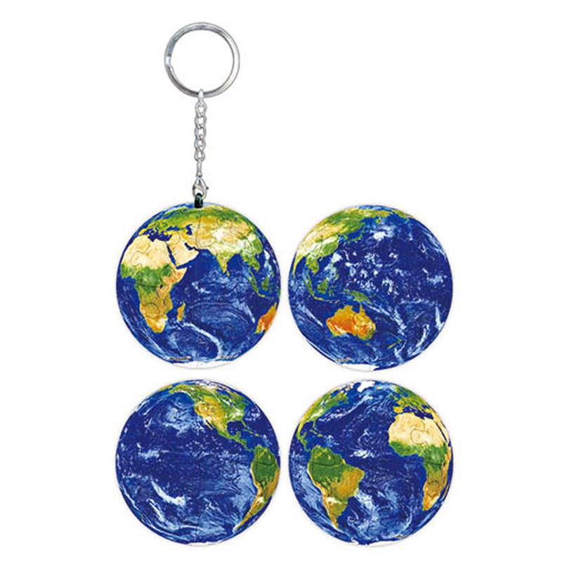 璀璨之星(地球)立體球型拼圖鑰匙圈24片