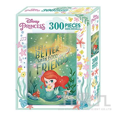 小美人魚Q版300片盒裝拼圖(L) QPQ02L
