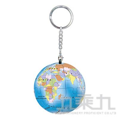 藍色地球立體球型拼圖鑰匙圈24片 HP0124142
