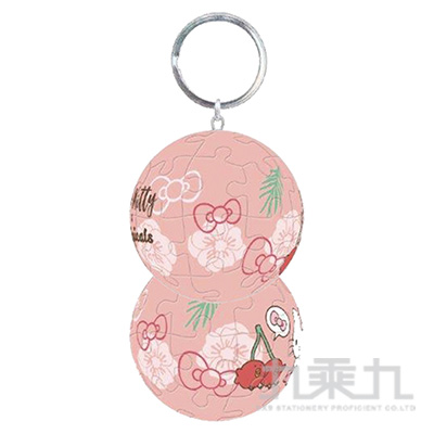 Sanrio Characters& 扭蛋星球(櫻桃鳥)立體球型拼圖鑰