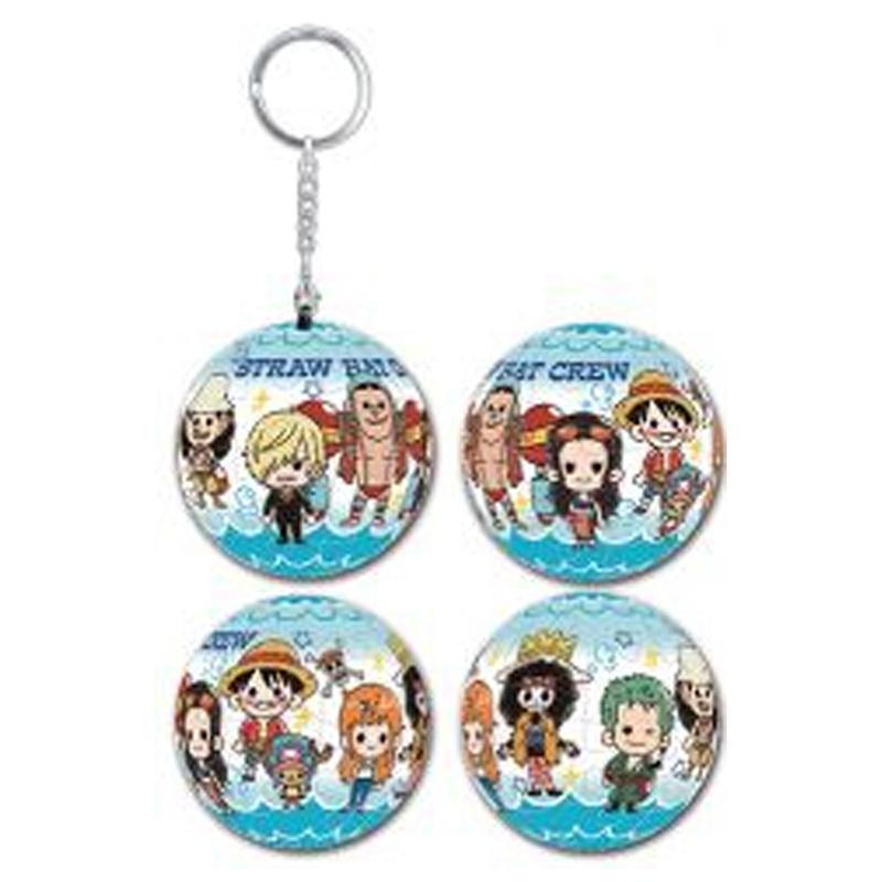 海賊王可愛Chibi立體球型拼圖鑰匙圈24片