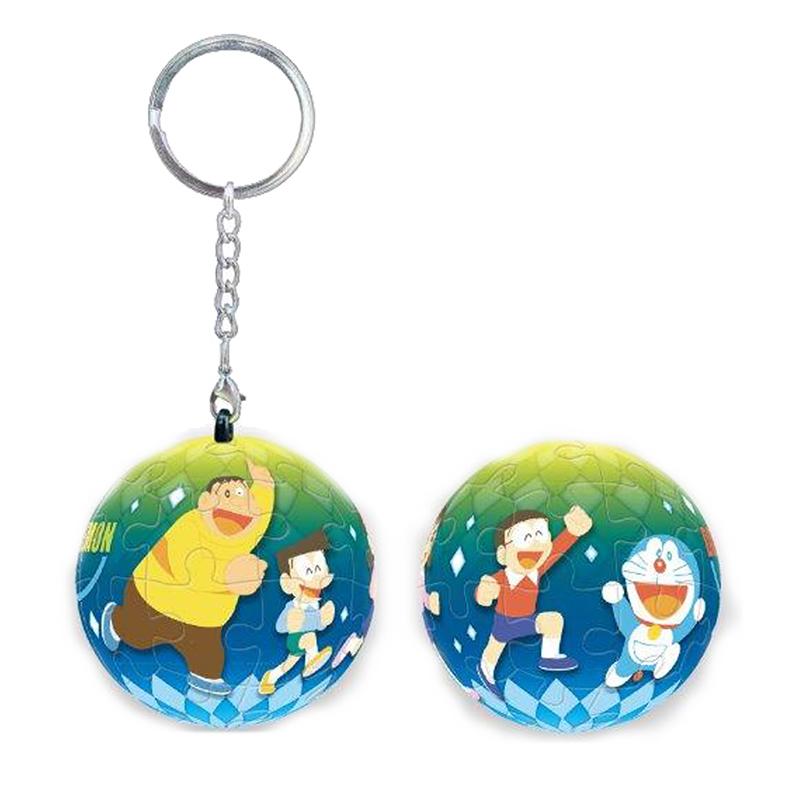 哆啦A夢(永遠的好友 )立體球型拼圖鑰匙圈24片