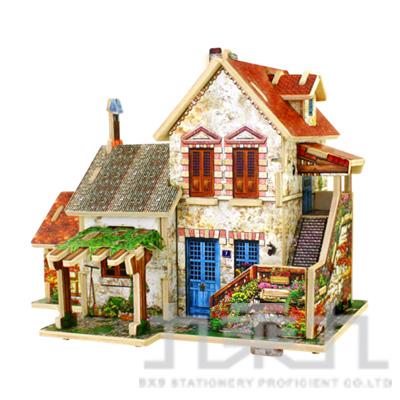 3D立體拼圖世界風情-法國農莊  F124