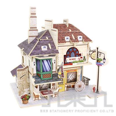 3D立體拼圖世界風情-英國紅茶館  F135