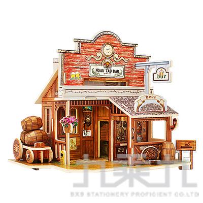 3D立體拼圖世界風情-美國西部酒吧  F138