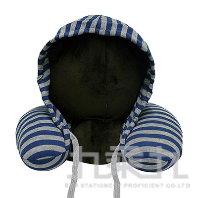 微粒連帽護頸枕/藍 882930
