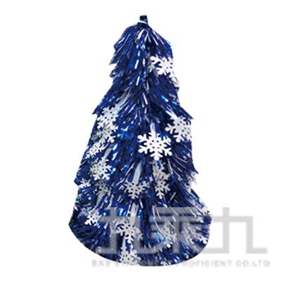 25cm雪花金蔥樹-藍 28673 (隨機出貨)