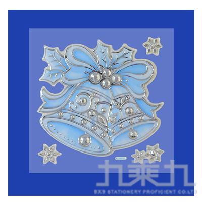 立體銀色聖誕雙鐘壁貼 GTX-5301