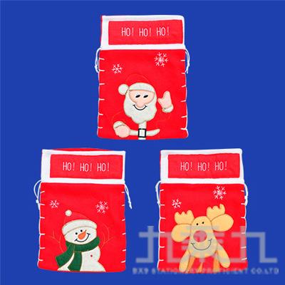 30公分剌繡拼布聖誕造型袋 GTX-5366