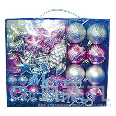 50入漾彩雙色聖誕飾品組 GTX-5608