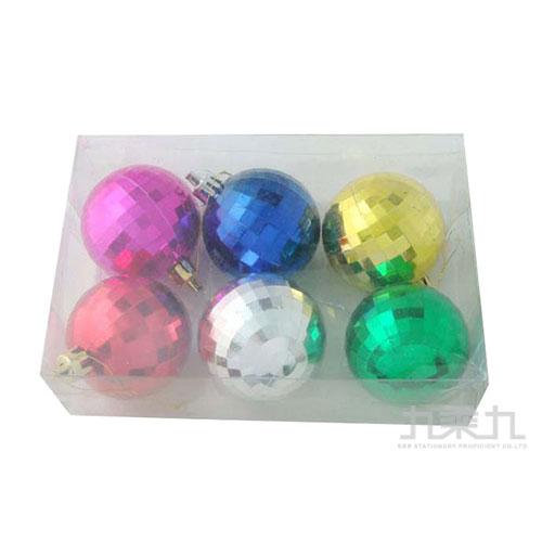 72#50mm鑽石面電鍍球6入  38593