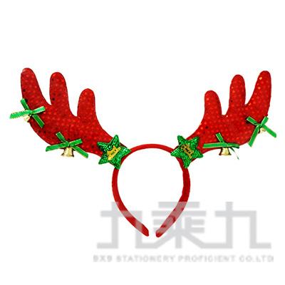(E)紅色鹿角聖誕髮箍 SL5678