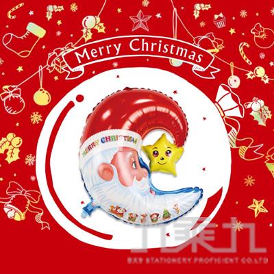 耶誕佈置 鋁箔彎月耶誕老人氣球 DE-03170
