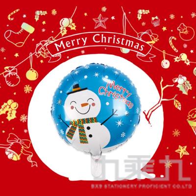 耶誕佈置 18吋鋁箔雪人氣球 DE-03171