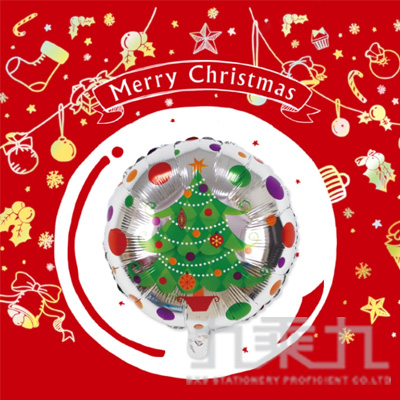 耶誕佈置 18吋鋁箔聖誕樹氣球 DE-03172