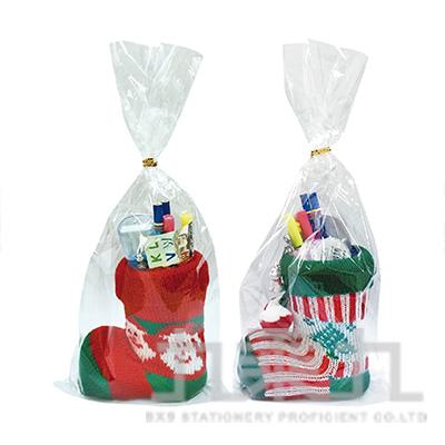 聖誕毛襪鞋文具組 6X499136-1
