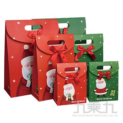 聖誕翻蓋(中)立體禮物袋 XW1802Z