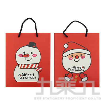 紅色聖誕手提袋-中 MX7008-2 (款式隨機)