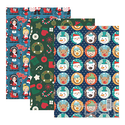 歡樂聖誕包裝紙(多款隨機)