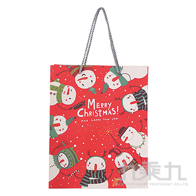 聖誕雪人手提袋-中