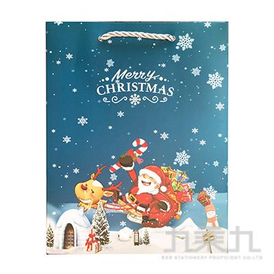 聖誕雪橇手提袋-小