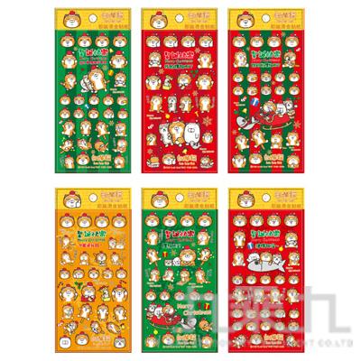 白爛貓耶誕燙金貼紙 LCBC39-2 (恕不挑款)