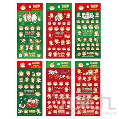 白爛貓耶誕透明貼紙 LCBC39-3 (恕不挑款)
