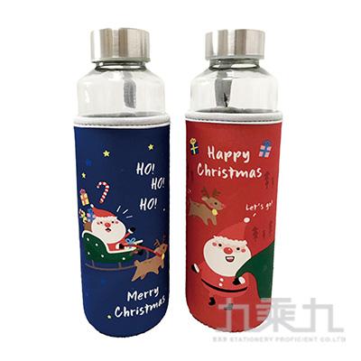 聖誕布套玻璃瓶 500ML BOT119-11