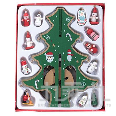 小木偶聖誕樹22cm SL6701-1