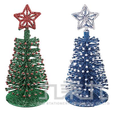 樹頂星金蔥聖誕樹8*19cm SL6234 (隨機出貨)