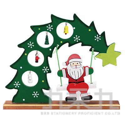 木製彎月木偶聖誕老人 SL6702