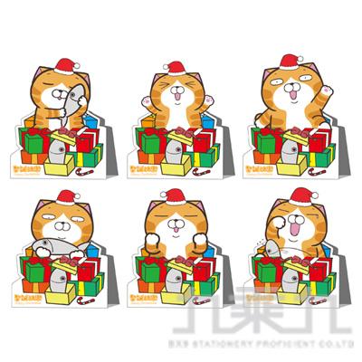 白爛貓立體耶誕卡 LCBK45-1 (恕不挑款)