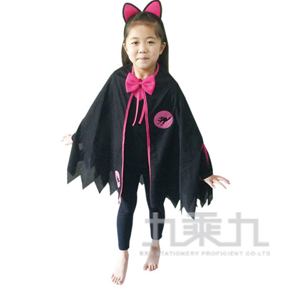 92#粉紅黑貓披風套裝組(40949)