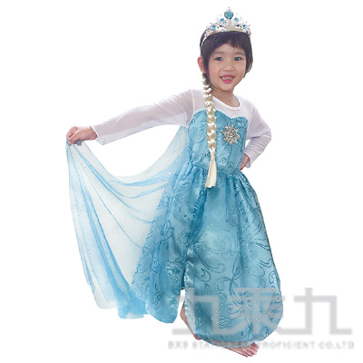 艾莎公主開衩長版洋裝43821