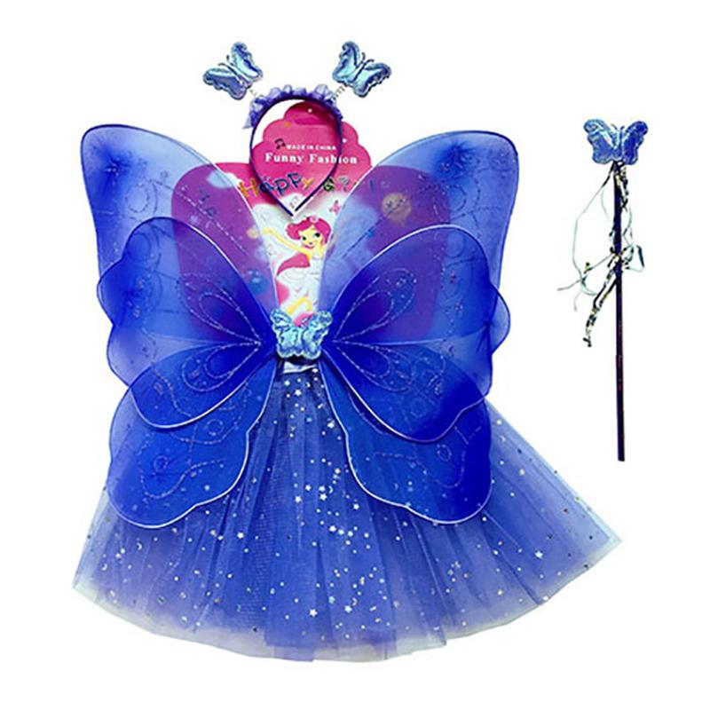 雙層蝴蝶翅膀四件套-紫 41637