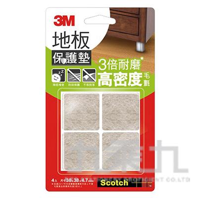 3M米色方型地板保護墊(38mm4入) F3801 06676-3232