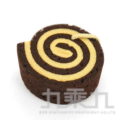 SK3800 烘焙幸福生活-瑞士巧克力捲 沐浴海綿